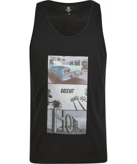 Ανδρικό αμάνικο T-shirt Basehit μαύρο (Black)  191.BM37.66