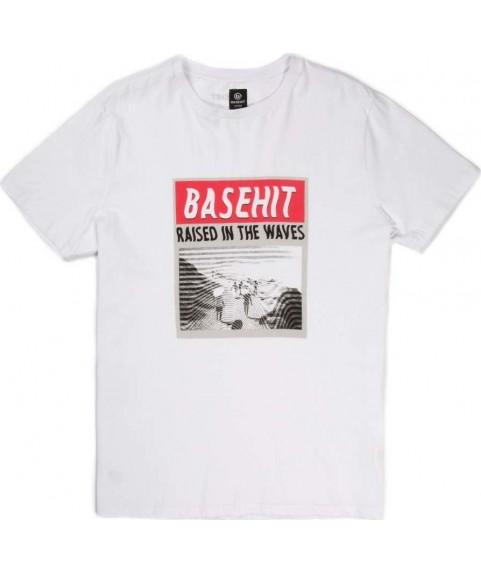 Basehit Ανδρική κοντομάνικη μπλούζα λευκή 191.BM33.16 White