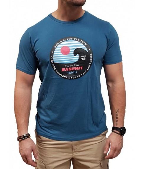 Basehit Ανδρική κοντομάνικη μπλούζα Blue