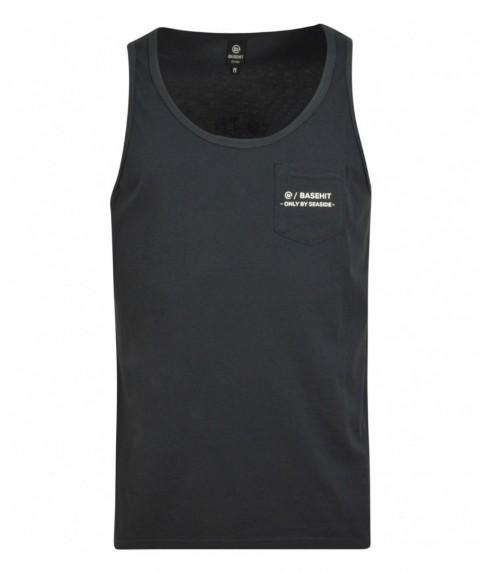 Basehit 191.BM37.37 Black - Μπλούζα αμάνικη