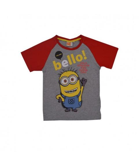 Παιδικό T-shirt ''Bello'' Γκρι-Κόκκινο 380240-08