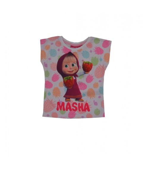 Παιδικό T-shirt Masha and the Bear Λευκό 380240-05