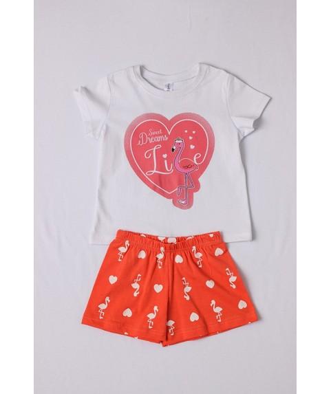 Παιδικό Σετ πυτζάμες κορίτσι DREAMS Λευκό/Πορτοκαλί 212108-03