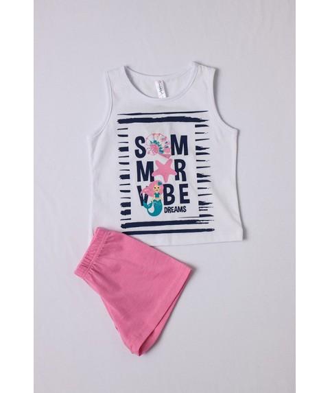 Παιδικό Σετ πυτζάμες κορίτσι DREAMS Λευκό/Ρόζ 212110-01