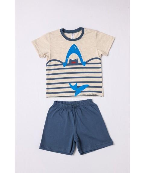 Παιδικό Σετ πυτζάμες αγόρι DREAMS Γκρί/Γαλάζιο 212306-02