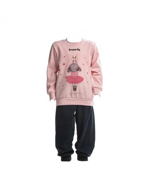 Παιδική Πιτζάμα Χειμωνιάτικη για Κορίτσι Dreams Ροζ 217105-01