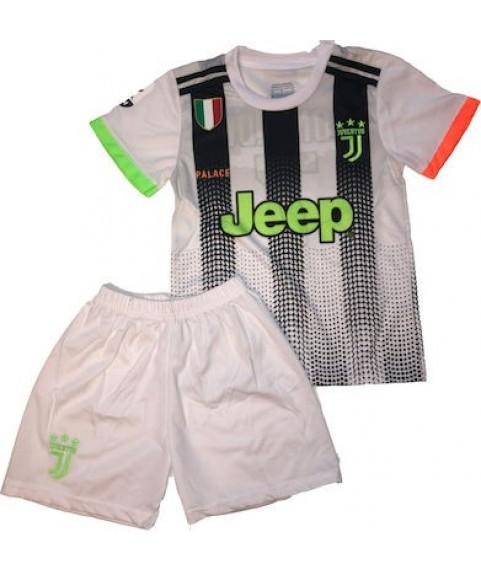 Παιδικό Σετ Ποδοσφαίρου Juventus-Ronaldo Λευκό-Μαύρο-Ριγέ 7201