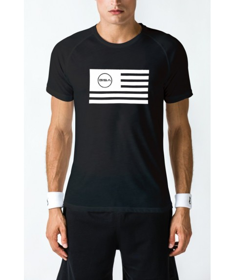 T-SHIRT MEN FLAG SUPERLOGO COLOR EDITION BLACK GSA GEAR