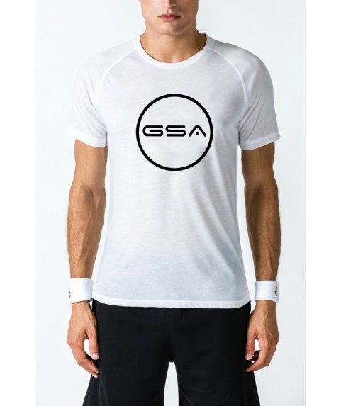 T-SHIRT MEN CIRCLE SUPERLOGO COLOR EDITION ( WHITE)  GSA GEAR 17-19031-02