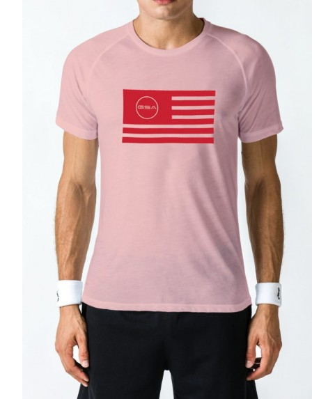 T-SHIRT MEN FLAG SUPERLOGO COLOR EDITION PINK GSA GEAR  (3+1 free )