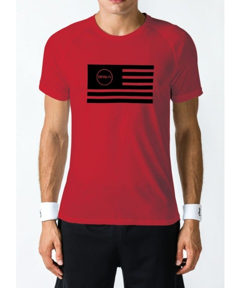 T-SHIRT MEN FLAG SUPERLOGO COLOR EDITION (RED) GSA GEAR 17-19036-01