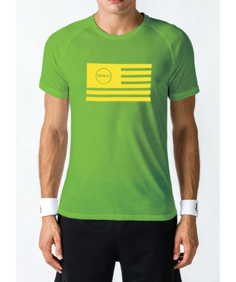 T-SHIRT MEN FLAG SUPERLOGO COLOR EDITION GREEN GSA GEAR ( 3+1 free )