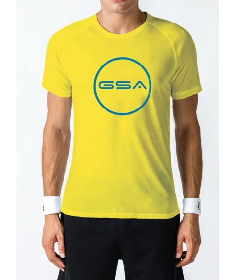 T-SHIRT MEN CIRCLE SUPERLOGO COLOR EDITION (YELLOW)  GSA GEAR17-19038