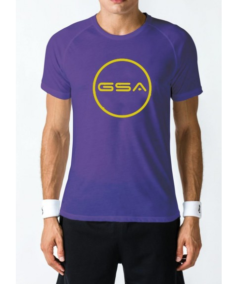 T-SHIRT MEN CIRCLE SUPERLOGO COLOR EDITION (PURPLE) GSA GEAR 17-19039-02