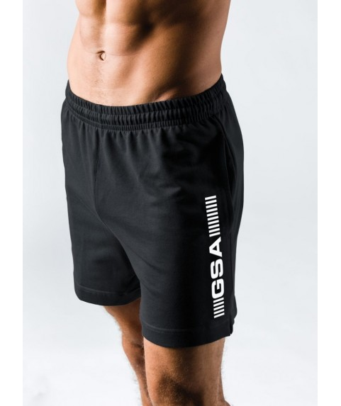 GSA SUPERLOGO ACTIVE 4/4 SHORTS  ΜΑΥΡΟ 17-19062-01