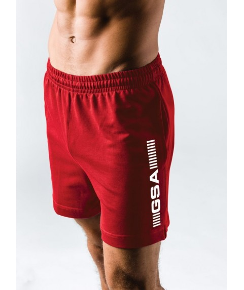 GSA SUPERLOGO ACTIVE 4/4 SHORTS ΚΟΚΚΙΝΟ 17-19062-05