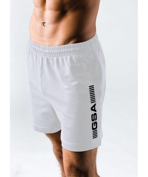 GSA SUPERLOGO ACTIVE 4/4 SHORTS ΛΕΥΚΟ 17-19062-06