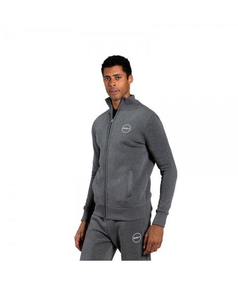 Ανδρική Ζακέτα GSA Zipper Tempo Mock Sport Charcoal 1719066-06