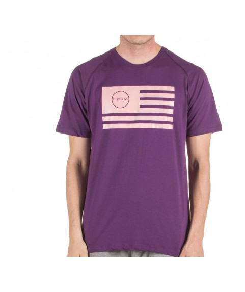T-SHIRT MEN FLAG SUPERLOGO COLOR EDITION ( PURPLE) GSA GEAR 17-19039-01