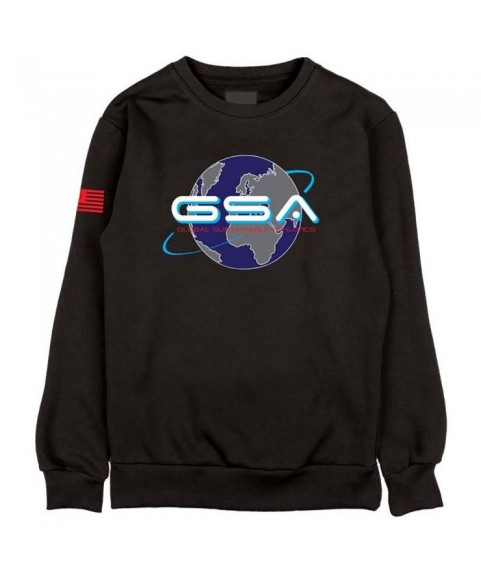 GSA EARTH CREW NECK ΜΑΥΡΟ