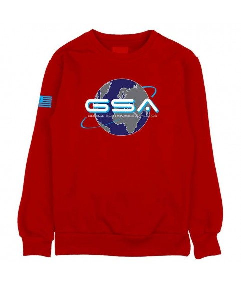 GSA EARTH CREW NECK ΚΟΚΚΙΝΟ