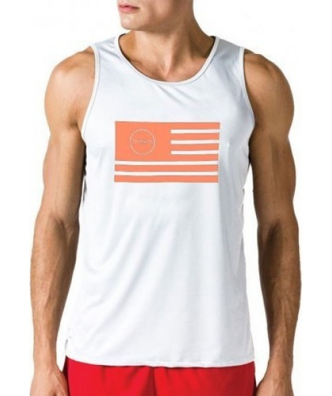 TANK TOP MAN SUPERLOGO COLOR EDITION FLAG  WHITE  GSA ( 3 +1 free )