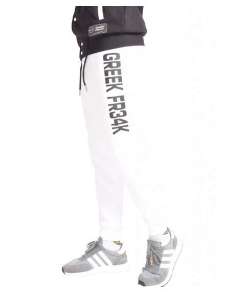 GREEK FREAK SWEATPANTS WHITE