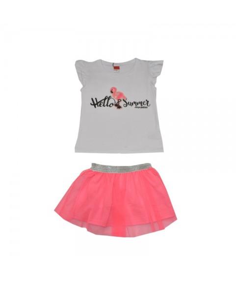 Παιδικό Σετ Joyce λευκό/ροζ για κορίτσι 201101-1