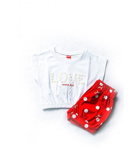 Παιδικό Σετ Joyce Λευκό/Κόκκινο για κορίτσι 201105-1
