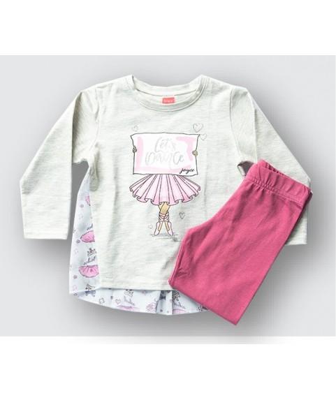 """Παιδικό σετ Joyce """"Airballon"""" γκρί μελανζέ/Λευκό για κορίτσι 201132-1"""
