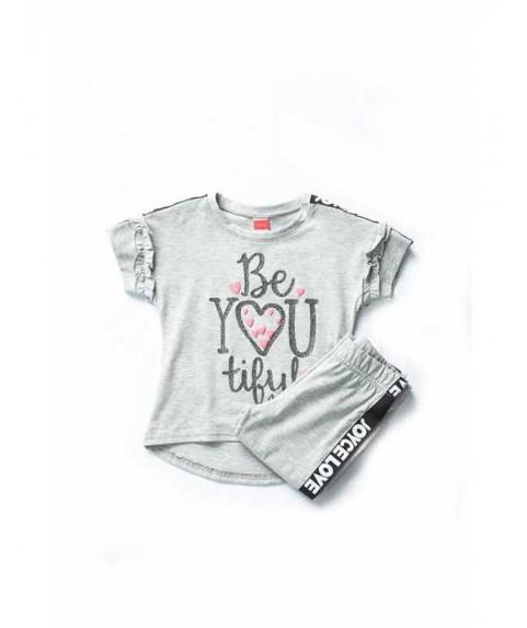 """Παιδικό σετ Joyce """"Be you"""" γκρί/γκρί για κορίτσι 201136-1"""