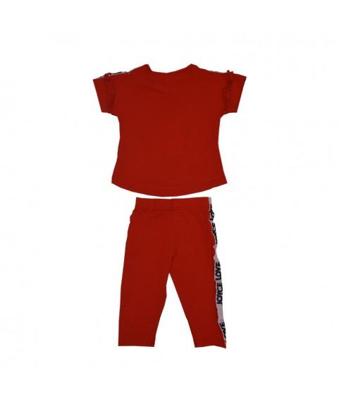 """Παιδικό σετ Joyce """"Be you"""" κόκκινο/κόκκινο για κορίτσι 201136"""