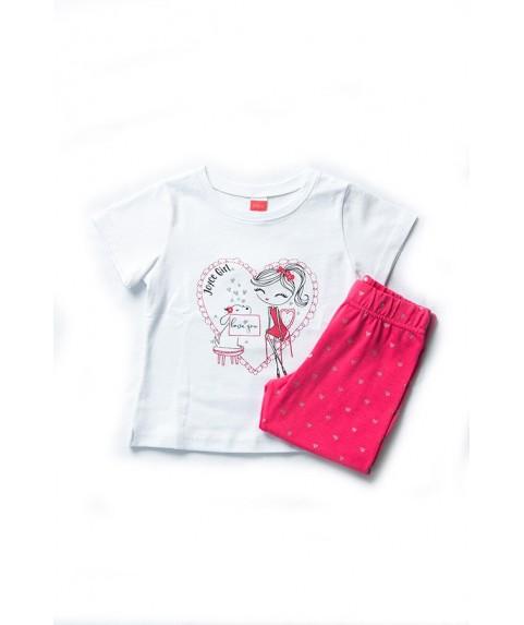 Παιδικό σετ Joyce λευκό/ροζ για κορίτσι 201138-1