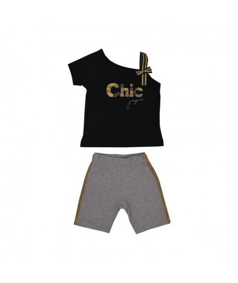 """Παιδικό σετ Joyce """"chic"""" Γκρί/Μαύρο για  κορίτσι 201143-2"""