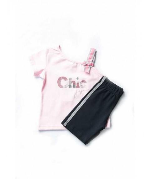 """Παιδικό σετ Joyce """"chic"""" navy/ροζ για  κορίτσι 201143-1"""