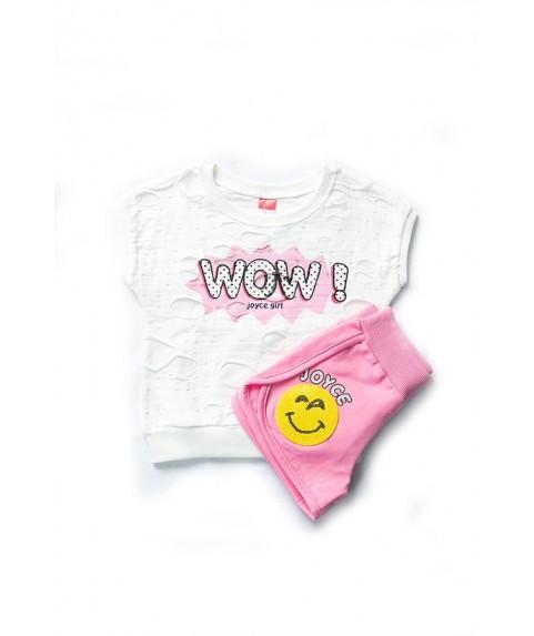 Παιδικό σετ Joyce ροζ/λευκό για κορίτσι 201158-2