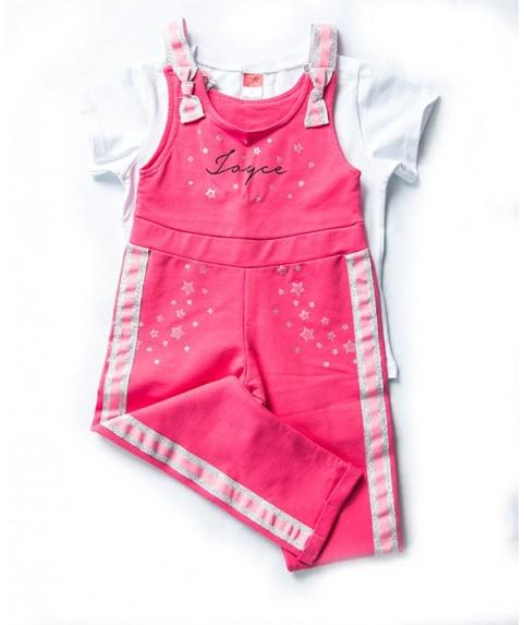 Παιδικό σετ Joyce σαλοπέτα ροζ/ασπρο για κορίτσι