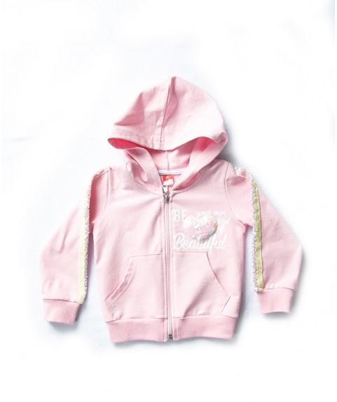 Παιδική ζακέτα Joyce ροζ για κορίτσι 201188-1