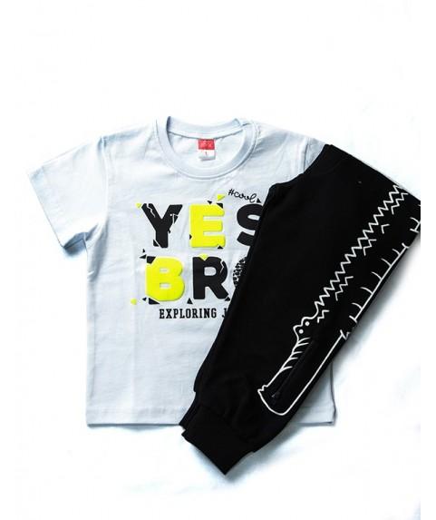 Παιδικό σετ Joyce λευκό/μαύρο για αγόρι