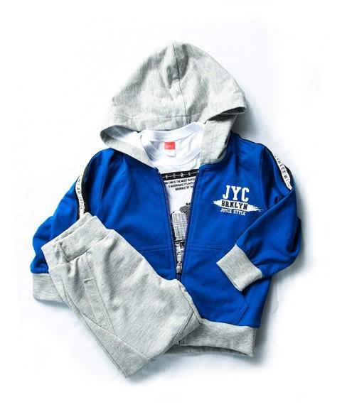 Παιδικό σετ Joyce μπλε/γκρι για αγόρι 201220-1
