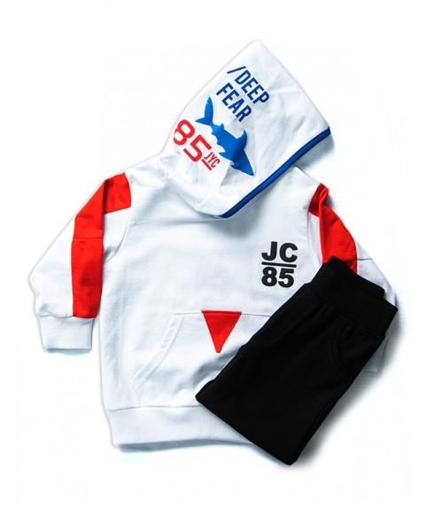 Παιδικό σετ Joyce λευκο/μαύρο για αγόρι 201226