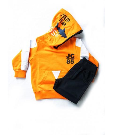 Παιδικό σετ Joyce πορτοκαλί/μαύρο για αγόρι 201226-1