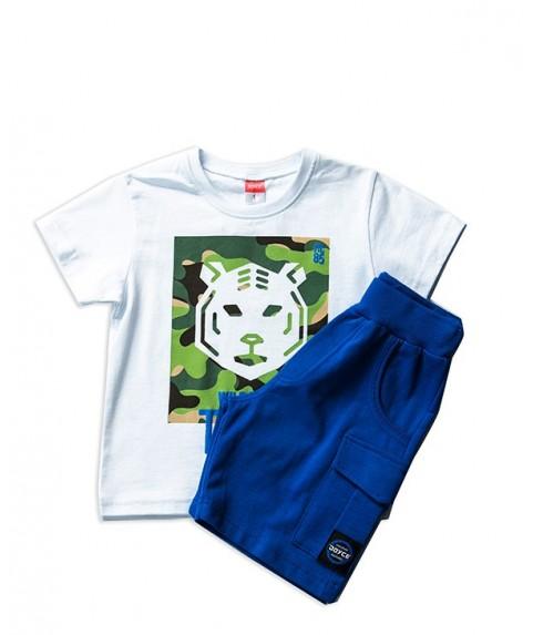 Παιδικό σετ Joyce μπλε/λευκό για αγόρι 201231