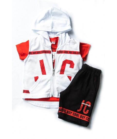 Παιδικό σετ Joyce Λευκό/Κόκκινο σετ για αγόρι 201268