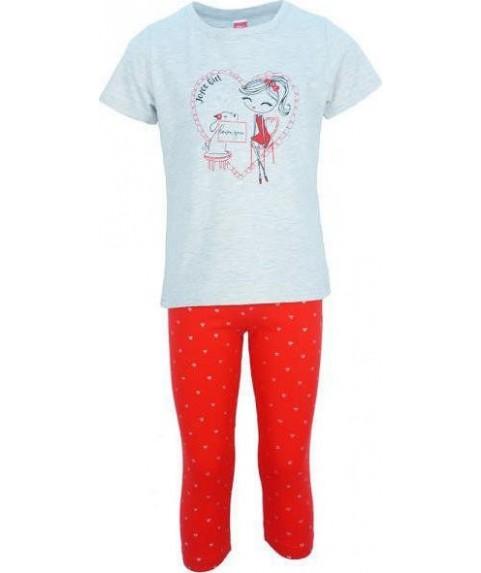 Παιδικό σετ Joyce γκρι/κόκκινο για κορίτσι  201138