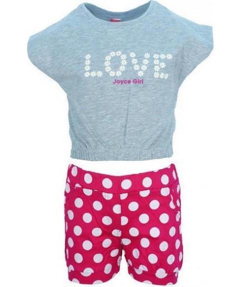 Παιδικό Σετ Joyce Γκρι/Ροζ για κορίτσι 201105
