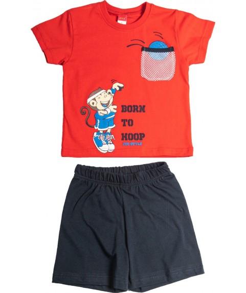 Παιδικό σετ  Σορτσάκι με Μπλούζα 'Born To Hoop' Joyce Κόκκινο/Σ. Μπλέ 211385-01