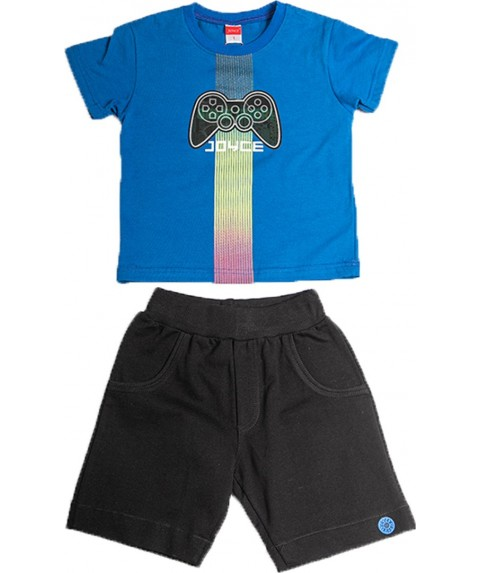 Παιδικό Σετ Σορτσάκι με Μπλούζα  Joyce Μπλέ/Μαύρο 211364-02
