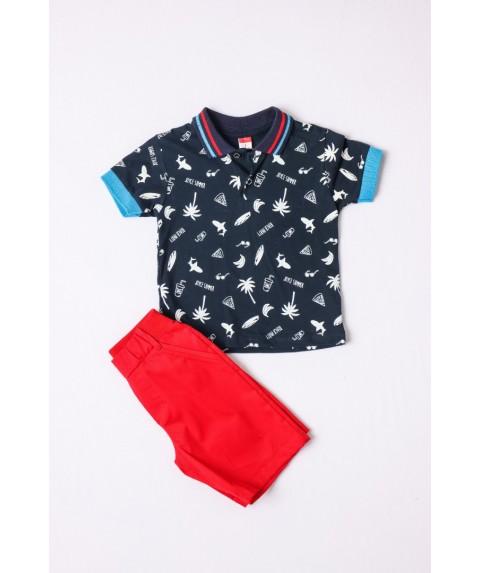 Παιδικό σετ  σόρτς/t-shirt Joyce για αγόρι Σ. Μπλέ/Κόκκινο 211306-01