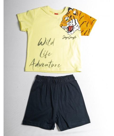 Παιδικό Σετ Σορτσάκι με Μπλούζα  Joyce 'Wild Life' Κίτρινο/Σ. Μπλέ 211386-02